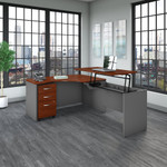 src128 bush business furniture l station with sit-stand return