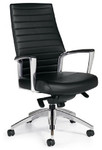 Global Accord Series High Back Leather Office Chair 2670LM-2