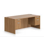 offices to go sl-r desk with walnut finish