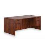 offices to go sl-r desk with dark cherry finish