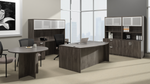 offices to go superior laminate complete executive furniture set with gray finish