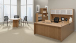 offices to go superior laminate walnut executive suite