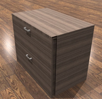 amber 2 drawer lateral file cabinet in walnut
