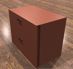 amber 2 drawer lateral file cabinet in cherry