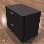 amber 2 drawer lateral file cabinet in black cherry
