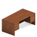 "Global Adaptabilities 72"" Double Pedestal Desk with Avant Honey Finish"