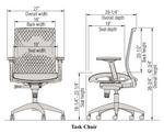 ki sift mesh back task chair dimensions