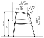 ki solstice chair dimensions