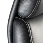 bush business furniture metropolis office chair leather back and headrest