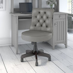 bush business furniture arden lane chair in light gray leather