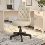 bush business furniture arden lane chair in antique white leather