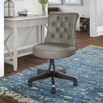 bush business furniture arden lane chair in washed gray leather