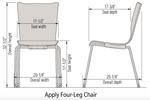 ki apply guest chair dimensions