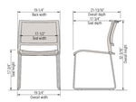 opt4 sled base stack chair dimensions