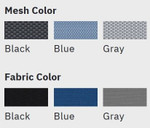 eurotech powerfit chair mesh and fabric swatches