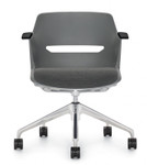 global moda poly office chair with upholstered seat