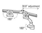 dual screen monitor arm adjustments