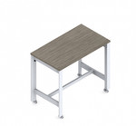 global bridges standing height table with casters