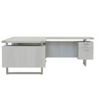72 x 78 mirella reversible l desk with white ash finish