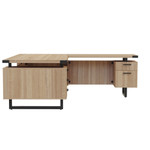 72 x 78 mirella reversible l desk with sand dune finish