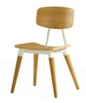 dix copine series wood side chair