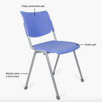 la mia stack chair features