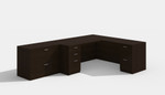 amber l desk in black cherry with lateral file