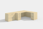amber l desk in maple with lateral file