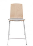 global sas stackable wood bar stool