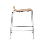 small wood counter stool