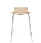 stackable low back counter height stool