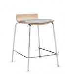 global sas low back counter stool with upholstered seat