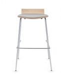"""global sas 30"""" wood bar stool with upholstered seat"""