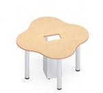 zook 4 person collaborative cluster table