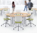 zook 6 piece collaborative circle table configuration