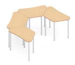 zook 4 piece modular u-shaped table configuration