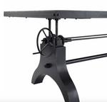 modway genuine hank crank adjustable table