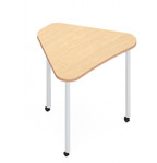 zook small triangle pod table with casters