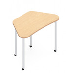 zook trapezoid table with casters