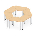 zook mobile trapezoid table configuration