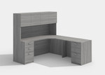 amber valley grey l desk with hutch