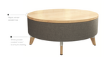 resi wood top ottoman features
