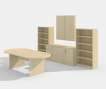 amber maple complete conference furniture set