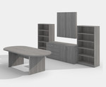 amber valley grey complete conference furniture set