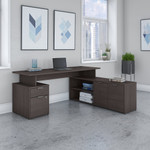 jamestown collection gray l-desk