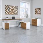 jamestown walnut l desk with file cabinet