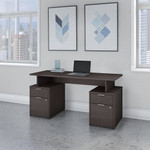 jamestown 60w desk with 4 drawers in storm gray