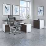 jamestown storm gray and white jtn026 desk set with chair