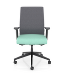 wyatt freeride gray fabric back task chair