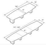 zira boat table line drawings